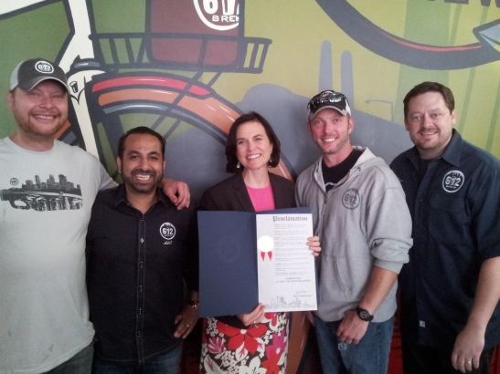 612Brew and Mayor Hodges